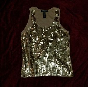 Gold Sequin Tank NWT